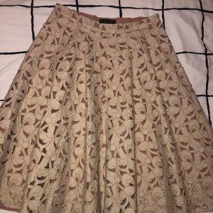 Ann Taylor midi circle skirt